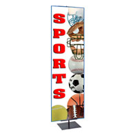 """4'-7'H Adj Portable Bannerstand w/24""""x84""""H Graphic, 1-Sided"""
