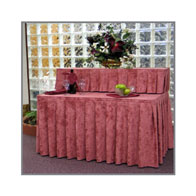 """50"""" Two Tier Skirting Kit Satin Accordian Pleat w/¾"""" Clips"""