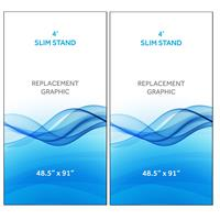 Graphic for 4' Radius Slim Stand™, 2-Sided