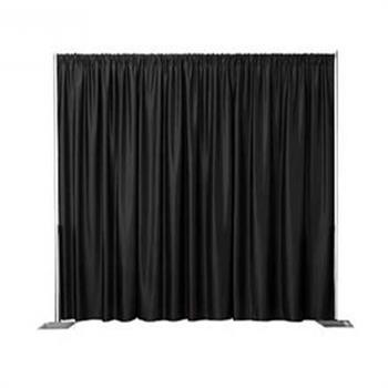 "BDVR5416XXKIT - (3)54""x16'H Cotton Velour Backdop Drape panels sewn together"