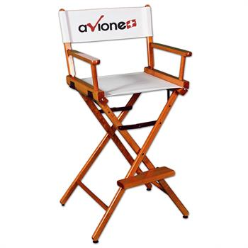 """DCCXX-YY-X2 - Counter(30""""H)Director Chair w/XPress 2 Color Printed Canvas"""