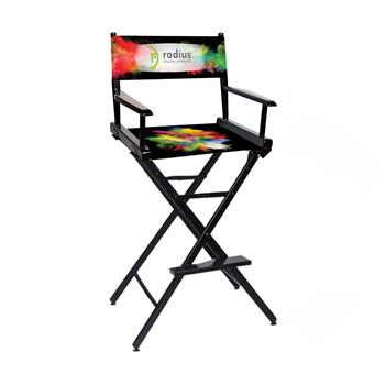"DCC-RP1 - Counter(30""H)Director Chair w/Printed Canvas, 1-Sided"