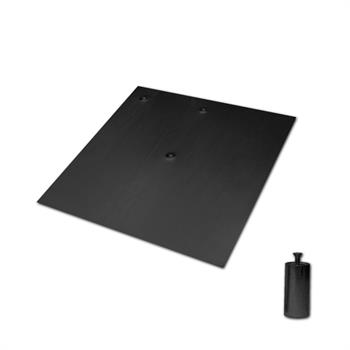 "HWB1818BK - 18""x18"" 17# Black Base w/2""x4""Pin"