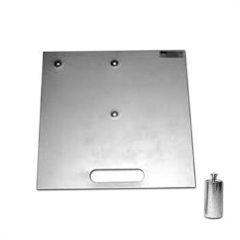 """HWB1818HS - 18""""x18"""" 17# Silver Base w/2""""x4""""Pin & Handle Slot"""