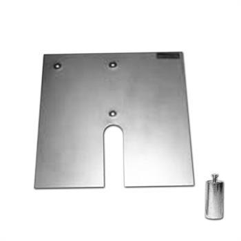 """HWB1818SS - 18""""x18"""" 17# Silver Base w/2""""x4""""Pin & Stacking Slot"""