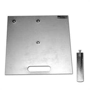 """HWB2424HHS - 24""""x24"""" 62# Silver Base w/2""""x8""""Pin & Handle Slot"""