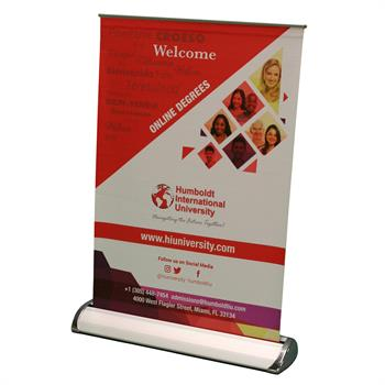 HWBSRUML - Mini Rollup Banner Stand - Large