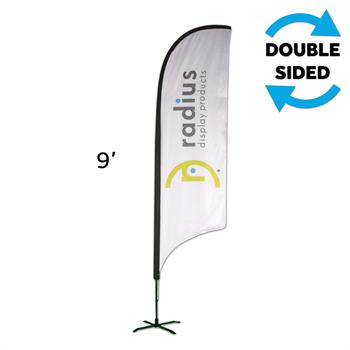 HWFFSI2KIT - Small Indoor Feather Flag Kit, w/Graphic, 2-Sided
