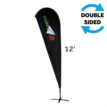 HWFTMI2KIT - Medium Indoor Teardrop Flag Kit, w/Graphic, 2-Sided