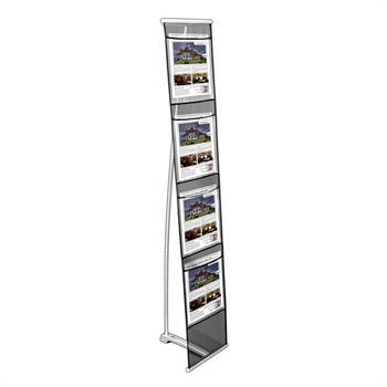 HWLSRU4 - 4 Pocket Roll-up Literature Stand