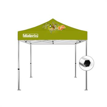 HWT1010BKIT - 10'x10' Tent Canopy Kit (Hex Frame and Printed canopy top)