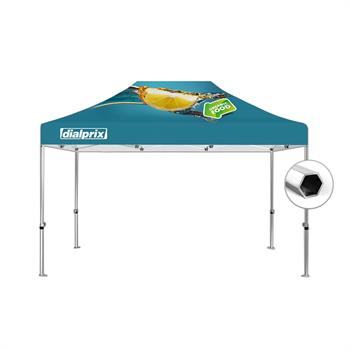 HWT1015BKIT - 10'x15' Tent Canopy Kit (Hex Frame and Printed canopy top)