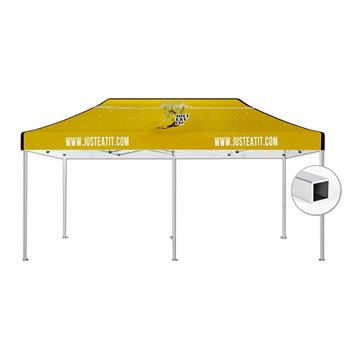 HWT1020AKIT - 10'x20' Tent Canopy Kit (Square Frame and Printed canopy top)