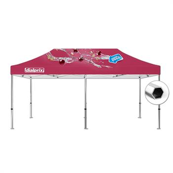 HWT1020BKIT - 10'x20' Tent Canopy Kit (Hex Frame and Printed canopy top)