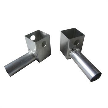 HWTRPCSD - Rail Pole Connector-Single Direction (2 req./Rail) (Square Frames)