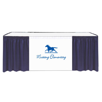 "SKTMXV172940XX-X2 - 17.5'x29""H Maxi-Vision Skirting Twill w/40"" Printed Banner 2 Color Xpress Scan (No Clips)"