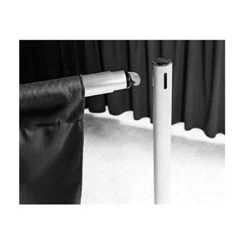 BDCS408XX-BC - 8'H Cameo Shirred Backdrop Drapes w/Backdrop Clips