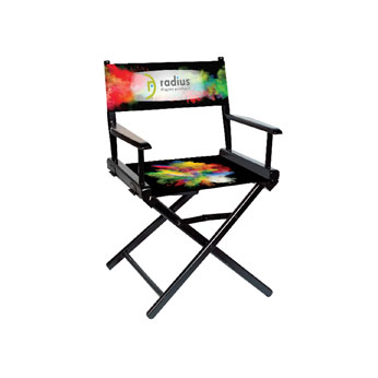 "DCR-RP1 - Regular(17""H)Director Chair w/Printed Canvas, 1-Sided"
