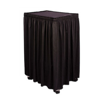 "CSTA130XX - Custom Cart Skirt 1""x19""-30""H Twill Accordian Pleat ($/in)"