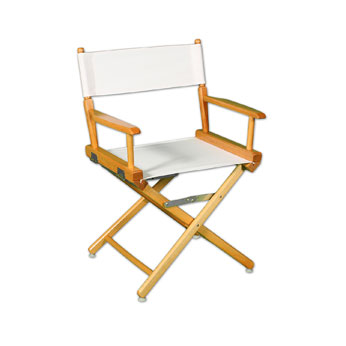 "DCRXX-YY - Regular(17""H)Director Chair w/Unprinted Canvas"