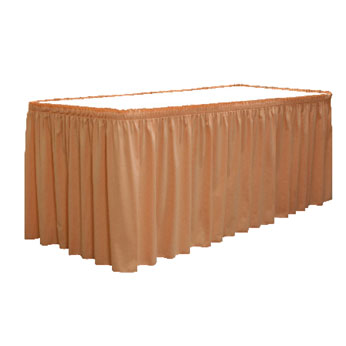 "SKSS130XX-O2 - 19""-30""H Shirred Skirting Satin ($/Ft-w/Omni II™ Clips)"