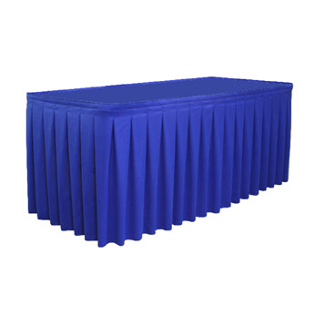 "SKSB130XX-O2 - 19""-30""H Box Pleat Skirting Satin ($/Ft-w/Omni II™ Clips)"