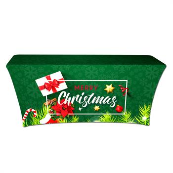 """RPCSOY6FSSH2 - Preprinted Holiday SuperStretch Cover 6' - Green """"Merry Christmas"""""""