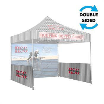 RPCT10HW2 - 10'x10' Printed Tent Side/Halfwall, 2-Sided