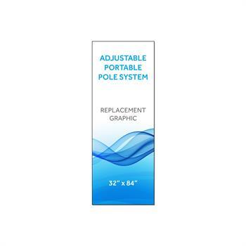 "RPQAP3284 - Graphic 32""x84""H for Adj Portable Pole System"