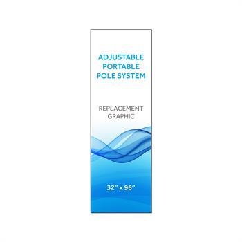 "RPQAP3296 - Graphic 32""x96""H for Adj Portable Pole System"