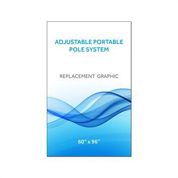 "RPQAP6096 - Graphic 60""x96""H for Adj Portable Pole System"