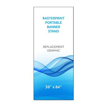 "RPQBN3684 - 36""x84""H Graphic for 4'-7' Adj Portable Bannerstand"