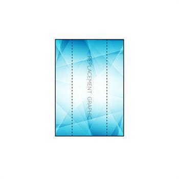 RPQPS13FEC - 1x3 Front w/ End Caps Graphic for Pop-Up SEG Lightbox