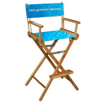 RPQQDC - Director Chair Canvas Printed, 1-Sided