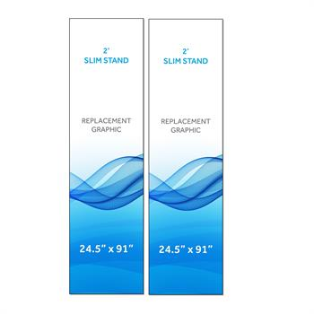 RPQRS22 - Graphic for 2' Radius Slim Stand™, 2-Sided