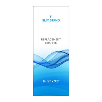 RPQRS31 - Graphic for 3' Radius Slim Stand™, 1-Sided