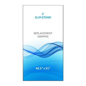 RPQRS41 - Graphic for 4' Radius Slim Stand™, 1-Sided