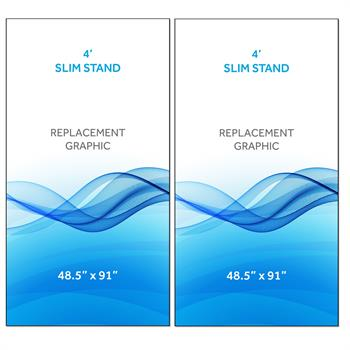 RPQRS42 - Graphic for 4' Radius Slim Stand™, 2-Sided