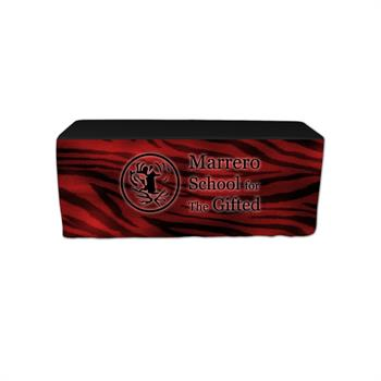 """RPQTCTF6FXX-FO - 6' Full 30""""H Fitted Front Only Printed Throw Cover"""