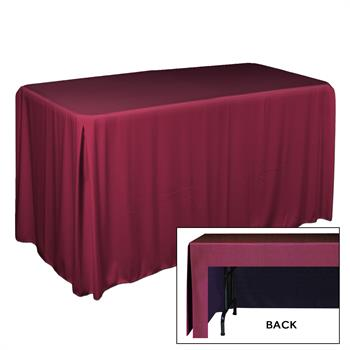 "TCSP84152XX - 6', Econ, Pleated, 42""H, Satin Table Throw"