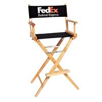 "Counter(30""H)Director Chair w/SilkScreen 2 Color Printed Canvas"