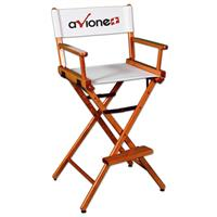 "Counter(30""H)Director Chair w/XPress 2 Color Printed Canvas"