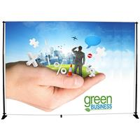 "120""x96""H Adj Portable Pole System, Kit w/Graphic"