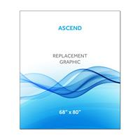 "68""x80""H Ascend™ Graphic Hardware w/Graphic"