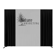 10'x8' MaxiVision™ Backdrop 1 Color Silk Screen