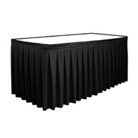"13'x29""H Royal Box Pleat Skirt Satin (No Clips)"