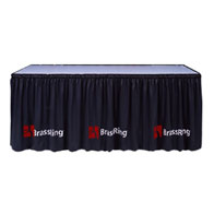 "40""H MultiVision™ Skirting Twill Shirred 1 Color Silk Screen ($/Ft-w/Omni™ II Clips)"