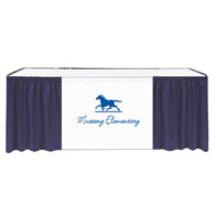 "13'x29""H Maxi-Vision Skirting Twill w/40"" Printed Banner 1 Color Xpress Scan (No Clips)"