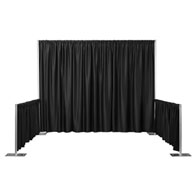 "10' x 35"" Cameo Accordian Pleat Siderail Drapes w/Backdrop Clips"