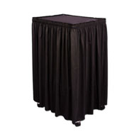 "110""x38""H Cart Skirt  Twill Accordian Pleat"